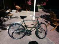 Relight 3-speed vintage cruiser with baskets. This is a