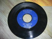 Vintage Karen Records brand 45 record Plays great,