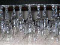 This is a wonderful set of 5-inch etched stemmed