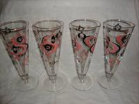 These are great vintage pilsner beer glasses from the