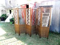 VERY NICE AND VERY DECORATIVE VINTAGE SIX PANEL SOLID