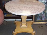 unusual 1960s vintage table with a fantastic pink