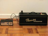 Up for sale is a 1960s Premier tube reverb unit. It