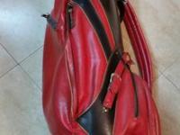 Vintage 70's Ben Hogan Leather Golf Bag with Golf Clubs