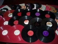 We have some vintage 78 and 45 RPM records for sale