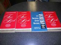 Available for sale are 3 1965-1966 AAA Tour Books and 1