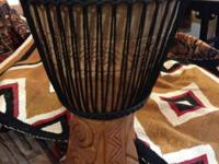 Vintage African Dance Djembe Drum. Gambia. Wss $495.