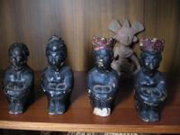 Classic African Statues. Vintage Lot of African Statues