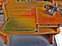 "GOSSIP TELEPHONE BENCH/ W PHONE-$50.00 41"" X 18""X"