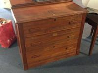 "Vintage All Wood Cherry Dresser Measures 38"" long  x 17"
