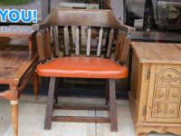 For Sale:   Vintage all wood leather chair.  This is a