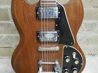 Available for sale;.   I have a true vintage Gibson SG
