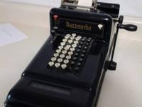 Burroughs manual adding machine, in working order,