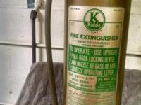 Antique - Vintage brass fire extinguisher and 3