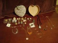 Vintage/Antique Costume Jewelry Lot,36 Pc.Total, In An
