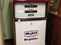 Vintage/Antique Interceptor Gas Pump with Mobil Regular