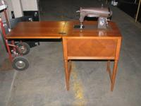 VINTAGE/ANTIQUE MAKE-KENMORE SEIWNG MACHINE IN WOODEN