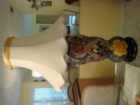 Beautiful and Large Double Handle Japanese Moriage Vase