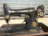 For Sale: Vintage Antique Cast Iron Sewing Machine with