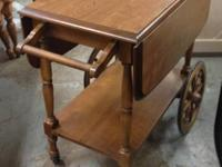 VINTAGE ANTIQUE LUMBER TEA CART.  $75.00.  SATISFY CALL