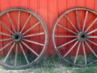 FOR SALE: 3 Pair of Vintage Antique Wooden Wagon