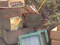 Vintage apple crates. These crates can be used for all