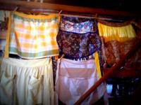 Several Unique, Vintage Aprons in Excellent Condition,