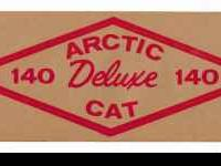 This is a Vintage Arctic Cat Decal, this is the Arctic