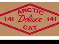 This is a vinatge Arctic cat decal from the 1960's,