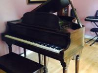 Lindeman and Sons baby grand piano made in the USA by
