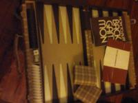 vintage backgammon game. REISS mftr. with instruction