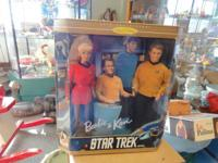 VINTAGE STAR TREK BARBIE AND KEN GIFT SET FROM THE