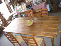Vintage Wooden Farm Tables Made With Aged Barn Woods &