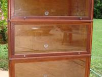 Up for sale is a vintage barrister bookcase in very