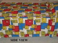 This vintage twin dimension bedspread is in like new