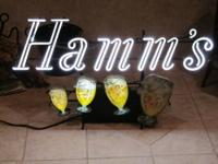 Hamm?s dancing goblets! This rare neon sign dates back