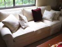 Vintage Beige Sofa Couch $385 Chabad Thrift Store Non