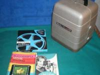 Vintage Bell & Howell 254RA 8mm movie film Projector +