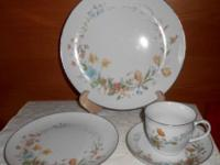 This is an 16 place setting set. There are a few pieces