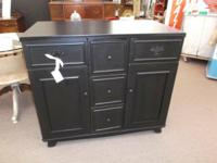 This classic media cabinet/bar is repainted gently