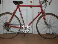 1977/78 Vintage Peugeot 10 speed road bicycle, good