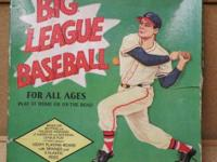 Saalfield Art Craft Peg Board Big League Baseball Game