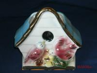 Birdhouse Wall Pocket from 1950's in very excellent