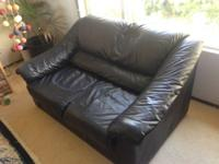Nearly new Black Ikea leather sofa Duo seats This sofa