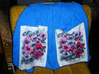 I have for sale a really nice clean blue floral apron,
