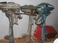 My collection of vintage Boat motors + total of 8 that