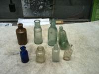 Various vintage bottles from Brooklyn NY excavation
