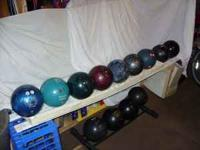 Vintage bowling balls-Brunswick,AMF,different kinds and