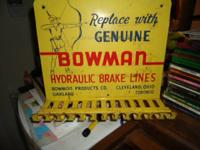 Bowman wall display sign for brake lines, hangs on the