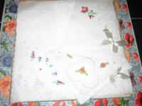 Available are vintage boxed handkerchiefs from the